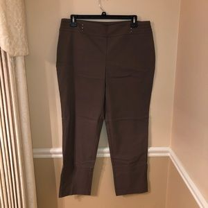 Dark Brown/Taupe JM Collection Pants, XL
